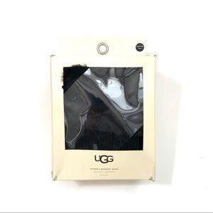 UGG Faux Fur Tall Cable Knit Rainboot Socks